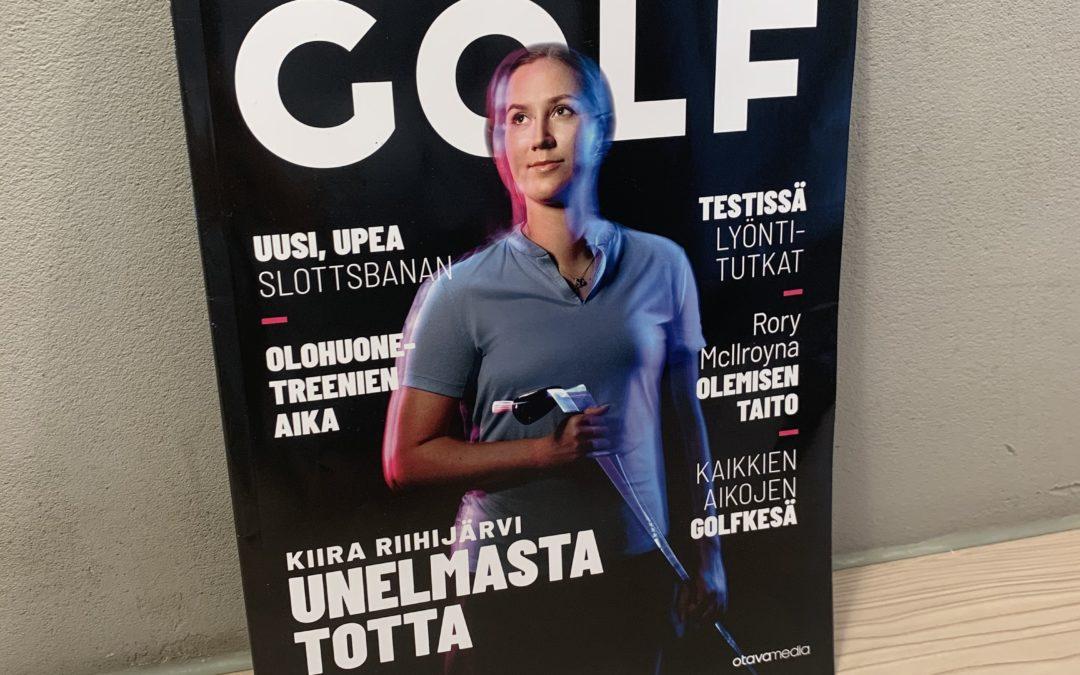 Kiira Riihijärvi uusimman Golflehden kannessa!
